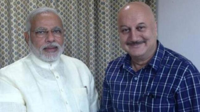 Narendra Modi and Anupam Kher