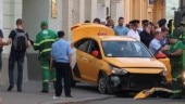 Taxi ploughs into Moscow crowd including soccer fans, injuring 8