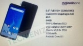 Motorola One Power full specs sheet leaked, could be the first Moto phone to come with notched display