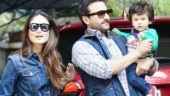 Taimur enjoys a merry-go-round ride with Saif, Kareena in London. See pic