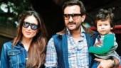Saif Ali Khan and Kareena Kapoor Khan with Taimur