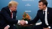 US President Donald Trump with French President Emmanuel Macron