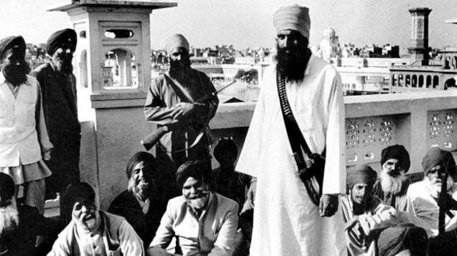 Jarnail Singh Bhindranwale (right, standing) believed himself to be above the law of the land.