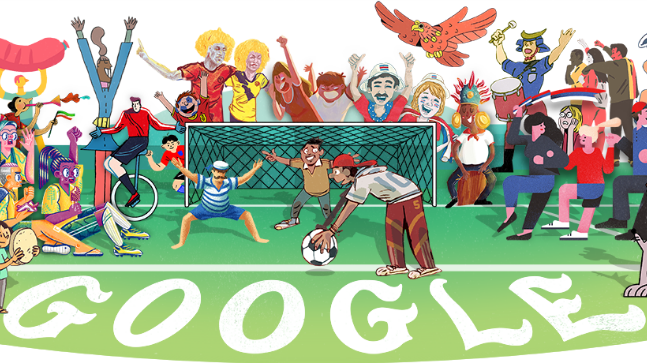 Google Doodle celebrates the start of 2018 FIFA World Cup