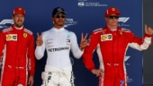 Lewis Hamilton with Sebastian Vettel and Kimi Raikkonen (Reuters Photo)