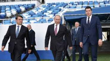 Vladimir Putin said the government would financially support World Cup venues for another five years (Reuters Photo)
