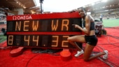 Beatrice Chepkoech celebrates after setting a new world record (Reuters Photo)
