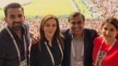 Zaheer Khan and Sagarika Ghatge with Mukesh and Nita Ambani (Picture posted by Zaheer Khan on Instagram)
