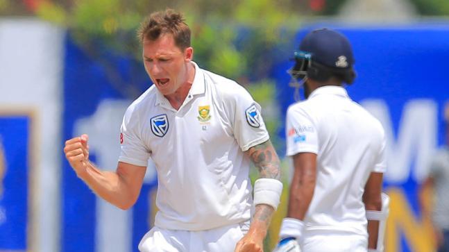 Dale Steyn celebrates after picking a wicket (AP Photo)