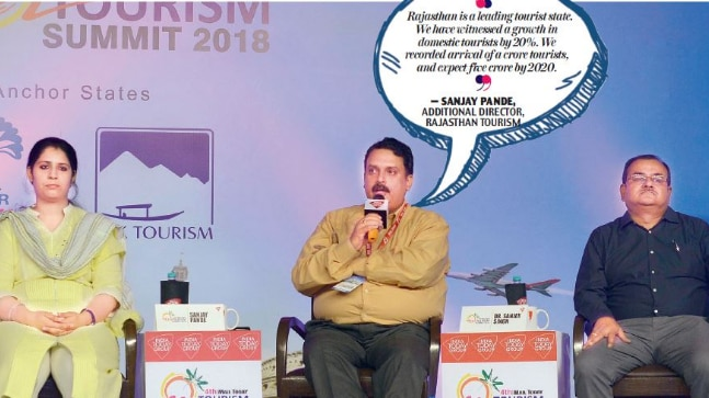 Anju Chaudhary, regional tourist officer, UP Tourism; Sanjay Pande, additional director, Rajasthan Tourism and Sanjay Singh, GM, Chhattisgarh Tourism Board