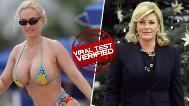 Viral Test: 'Croatian president in bikini' setting internet on fire