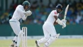 Dimuth Karunaratne was batting at 59 not out at the end of second day's play