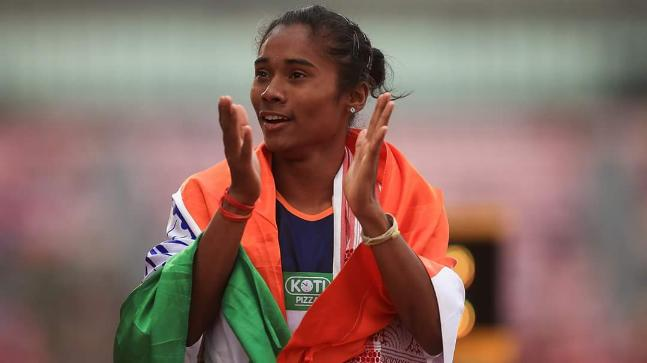 Hima Das had dreamed of wearing the blue Indian jersey since her childhood (Hima Das Twitter Photo)