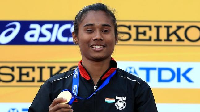 Image result for pics of hima das the gold winner