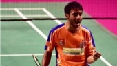 Sourabh Verma thrashed Mithun Manjunath 21-9 21-15 in the semi-final (Photo tweeted by @BAI_Media)