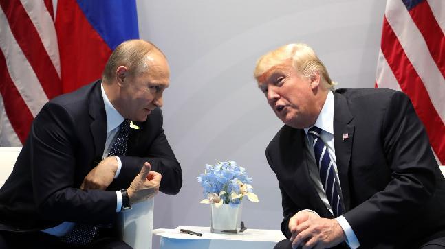 Donald Trump with Russian President Vladimir Putin
