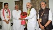 Amit Shah meets Nitish over breakfast, seat sharing on dinner menu