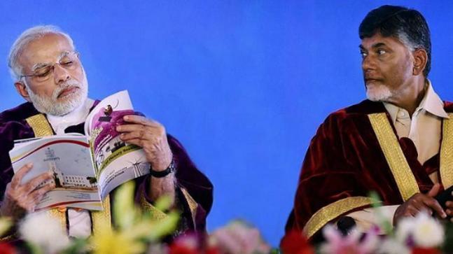 PM Modi with TDP chief Chandrababu Naidu