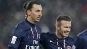 Zlatan Ibrahimovic and David Beckham were teammates at Paris St-Germain (Reuters Photo)