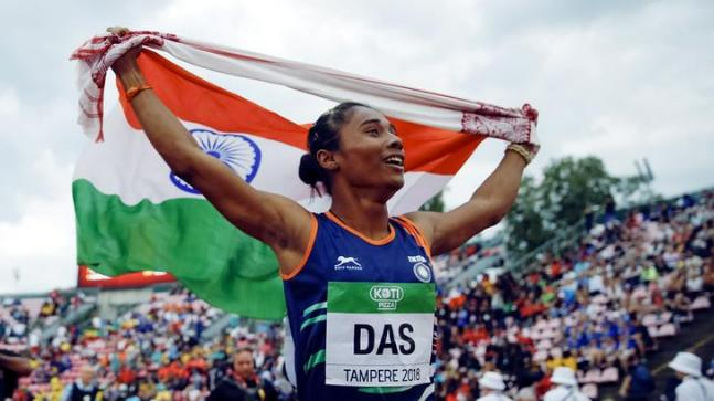 Hima Das clocked 51.46 seconds to win gold at the IAAF World U-20 Athletics Championships in Finland (Reuters Photo)