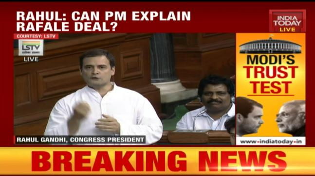 No-confidence motion: Rahul Gandhi says Sitharaman told lies about Rafale deal