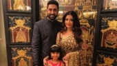 Aishwarya Rai Bachchan with husband Abhishek and daughter Aradhya.