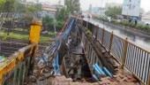 Part of bridge collapses on railway tracks in Mumbai's Andheri, train services hit