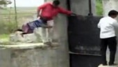 WATCH | Swinging and risking lives, children cross broken bridge to reach school in Gujarat