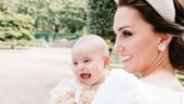 Why is Queen Elizabeth II missing from Prince Louis's christening portraits?