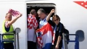 Watch how Croatia players celebrated on board their flight back home