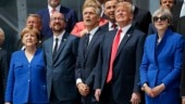 Leaders of Nato member states during the summit in Brussels