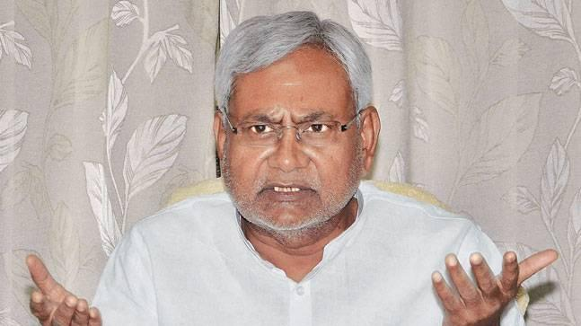 Nitish addressed his party leaders at New Delhi today