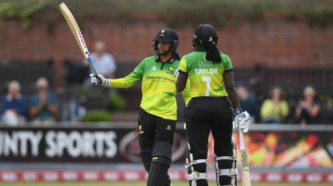 Smriti Mandhana smashed the joint-fastest women's T20 fifty on Sunday
