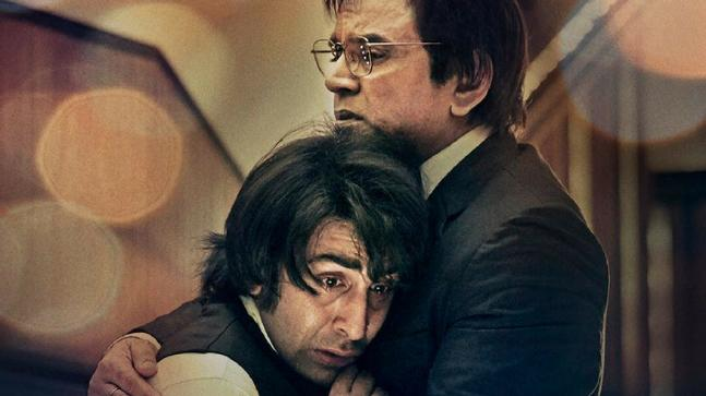 Ranbir Kapoor and Paresh Rawal in a still from Sanju