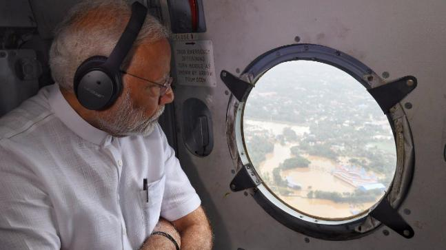 Image result for kerala flood modi