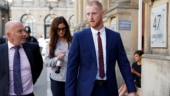Ben Stokes is accused of knocking two men unconscious