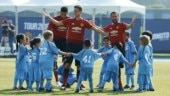 Watch what happens when 3 Manchester United players take on 100 kids