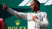 Lewis Hamilton of Mercedes took his record fifth pole at the Belgian Grand Prix ahead of Ferrari title rival Sebastian Vettel.
