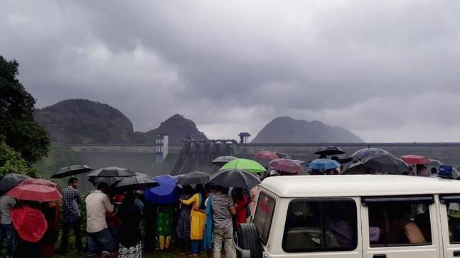 Idukki dam gate was opened today after 26 years