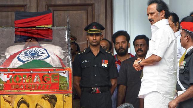 MK Stalin at Rajaji hall