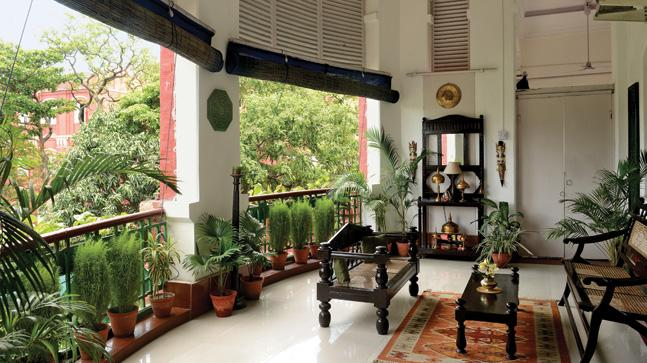 The charming drawing room of Kolkata's iconic Godfrey Mansion