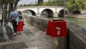Eco-friendly urinal along the Seine River in Paris Photo: Reuters