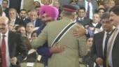 Sidhu's hug for Pakistan Army chief Bajwa creates fissures in Punjab Congress