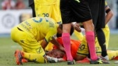 Chievo goalkeeper Stefano Sorrentino suffered a broken nose, bruised shoulder and whiplash when he collided with Cristiano Ronaldo.