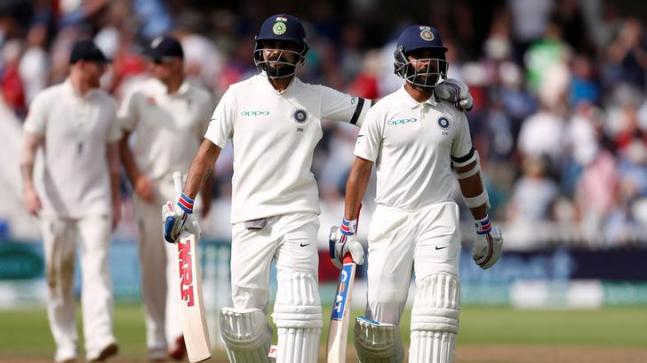 Image result for england vs india 3rd test Virat and Rahane