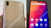 Vivo V11 Pro hands-on images leaked, show Waterdrop notch display, dual rear cameras