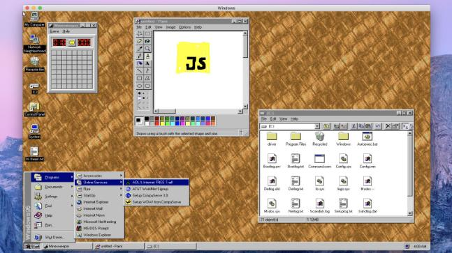 90s nostalgia: Windows 95 is now an app that you can install on