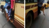 Hanging out of moving bus, Chennai students brandish machetes