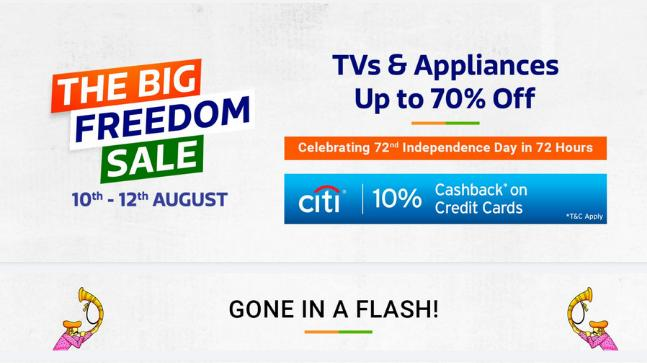 7c3e074b77d E-commerce giant Flipkart has announced the Big Freedom Sale to take on  Amazon and Snapdeal s Independence Day sales. While Amazon is already live  with its ...