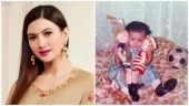 Gauahar Khan looks cute as a button in this throwback pic from her first birthday